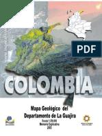 Mapa geologico del departamento de la Guajira