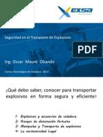 Seguridad en El Transporte de Explosivos - V 2014