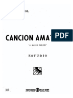 Emilio Pujol Cancion Amatoria