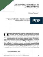Ficção e História Retomada de Antigo Diálogo - Marilene Weinhardt