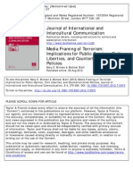 Media Framing of Terrorism, Implications for Public Opinion, Civil Liberties, And Counterterrorism Policies
