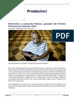 Entrevista a Leonardo Padura