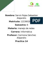 Reporte de La Practica 14