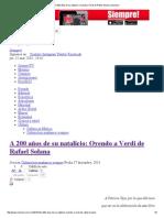 A 200 Años de Su Natalicio_ Oyendo a Verdi de Rafael Solana _ Siempre!