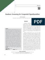 Newborn Screening for Congenital Hypothyroidism