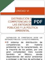 Unidad Vi, Distribución de Competencias