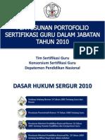 Penyusunan Por to Folio Guru Th 2010 Tim Sertifikasi Guru