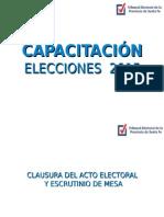4) Clausura Del Acto Electoral