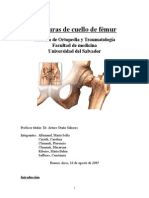Fracturas de Cuello de Femur