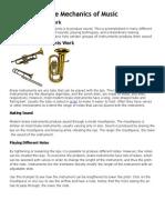 The Mechanics of Music