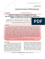 PHYSICO-CHEMICAL STANDARDIZATION AND PHYTOCHEMICAL SCREENING OF POTENTIAL MEDICINAL HERB