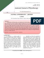 NATURAL ANTIOXIDANTS – A REVIEW