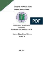 Caso Clínico Rehabilitación Pediátrica Edgar Miraval Cabrera Grupo 10