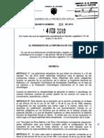 Decreto 358 de 2010 - Autonomia Medica