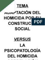 variables de de un homicida y la psicopatologia