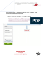Instructivo Para Ingresar a Los Cursos Virtuales English Dot Works