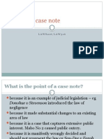 Writing a Case Note