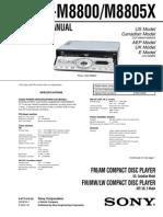 Diagrama CDXM8800 Black Panel
