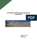 Lo Positivo del Proyecto de Expansión Andina 244