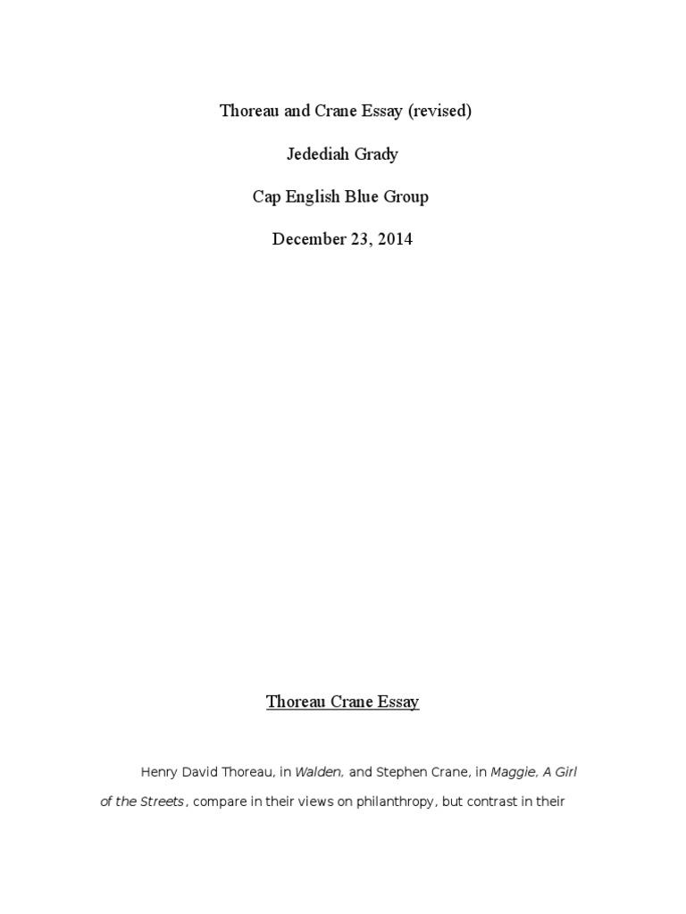 thoreau crane essay revised