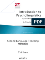 Introduction to Psycho Linguistics Presentation