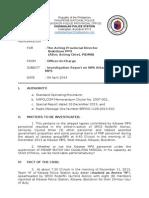 Sample Investigation Report