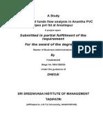 Anantha PVC Pipes Pvt Ltd(Fundsflow)