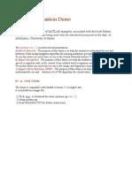 Matlab Demo Instructions