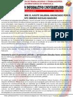 Boletín Informativo Universitario 06 (Consideraciones Incremento Salarial)
