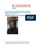 Camille Pagli, I Don't Get Along With Lesbians. They Don't Like Me, I Don't Like Them.