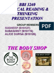 Bbi 3240 Critical Reading & Thinking Presentation