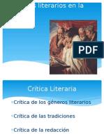Géneros Literarios en La Biblia