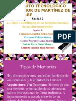 2.3 Tipos y Distribucion de Las Memorias Internas