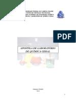 Apostila de Laboratorio de Química Geral UFCG