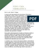 Leite Bovino - Uma Controvérsia Ética.