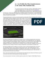 Aston Villa L?gendes - Les Profils Des Plus Grands Joueurs Et Les Gestionnaires De Aston Villa Football Club
