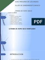 Letrina de Hoyo Seco Ventilado