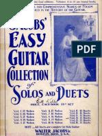 Walter Jacobs Easy Guitar Duets-Vol 12