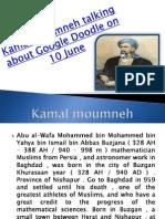 Kamal Moumneh talking about Google Doodle on 10 June -