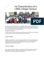 The Prime Characteristics of a Reputed BBA College Campus