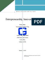 entrepreneurship innovation plan