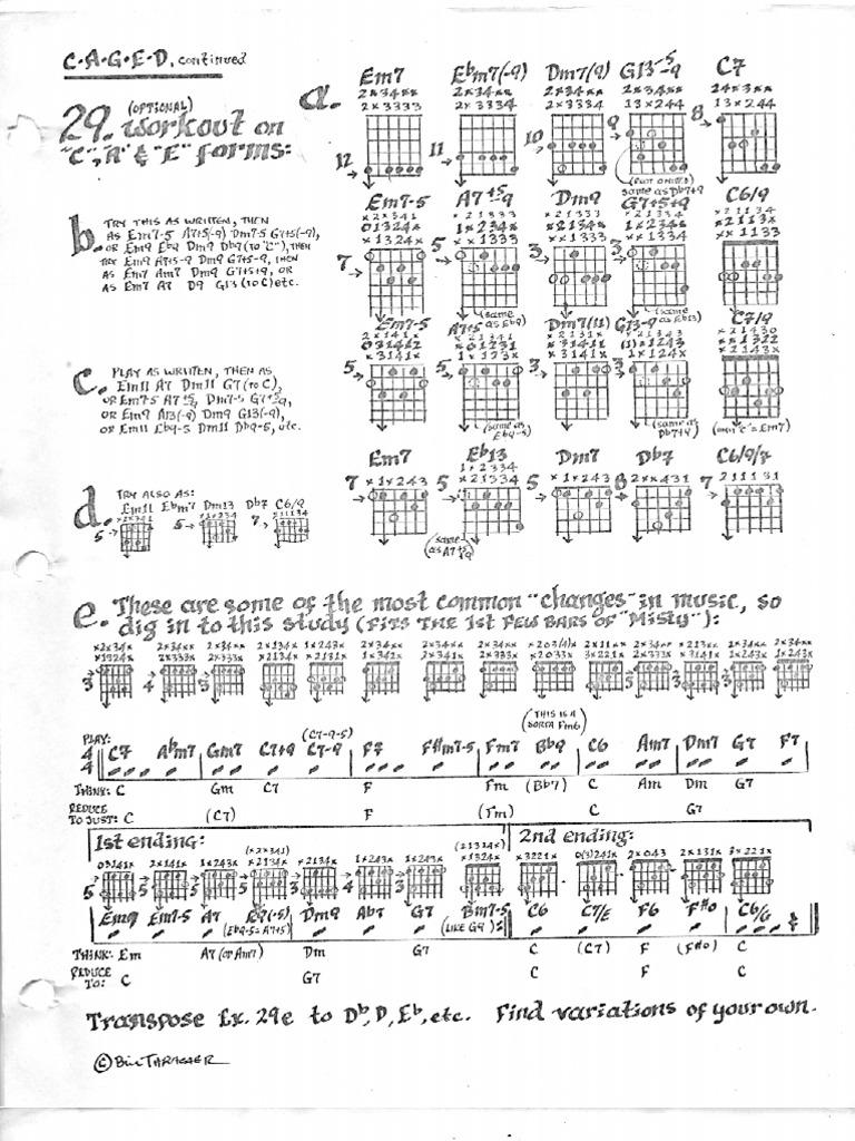 Workbooks guitar fretboard workbook pdf : CAGED Jazz Guitar (Chords) pg 16-20 (of 26)