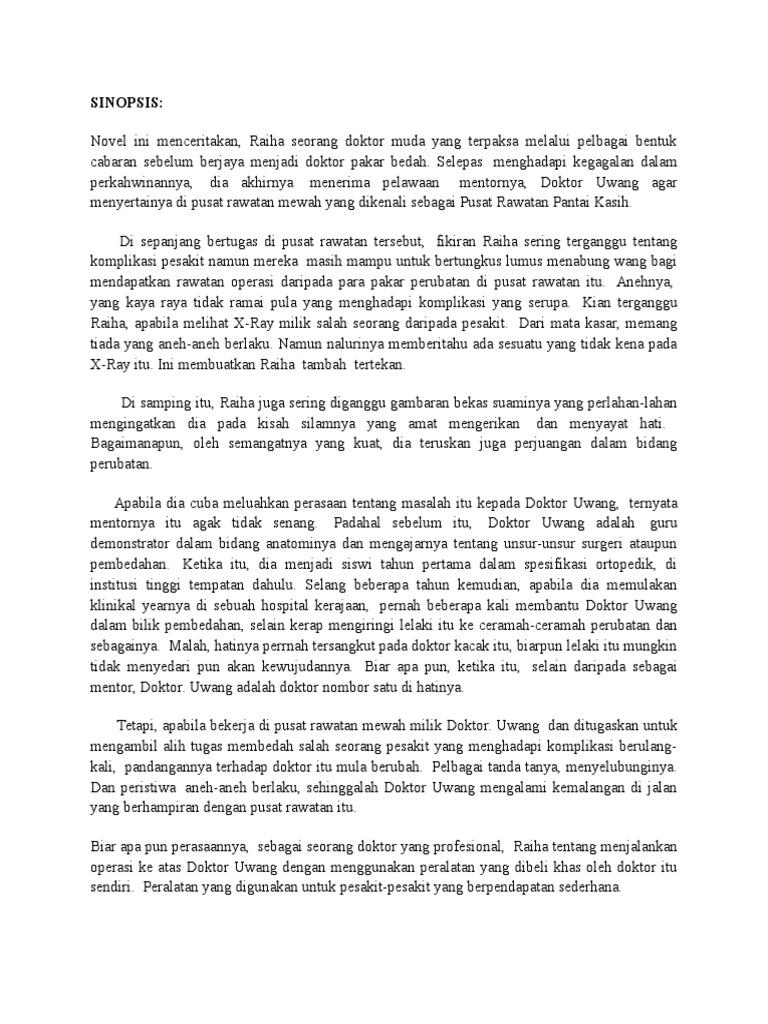 Nota Novel Pantai Kasih Bima Sakti Menari Docx
