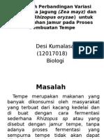Pengaruh Perbandingan Variasi Dosis Media Jagung (Zea.pptx