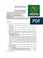 AMISOM SUPPORTS ENHANCING SOMALI FEMALE MPS' CAPACITY ON LAW AND MEDIA