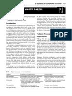 Deinking of Waste Paper - Flotation