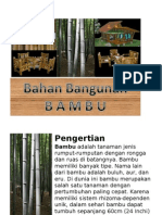 Bahan Bangunan Bambu
