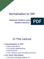 Normalisation 3NF