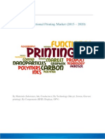 Functional Printing Materials Market at a CAGR of 25% through 2020.