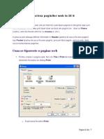 Tiparirea Paginilor Web in IE 6
